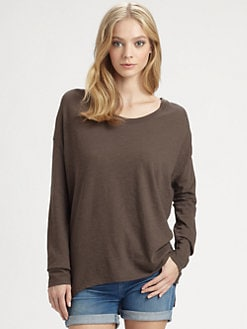 Vince - Cotton Shirttail Slub Tee