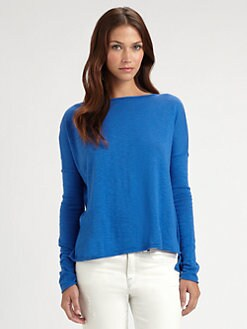 Vince - Oversized Boatneck Slub Cotton Sweater