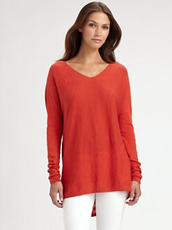 Vince - V-Neck Slub Cotton Sweater