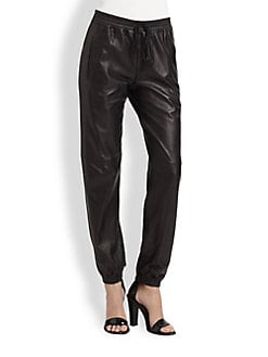 Vince - Leather Jogging Pants