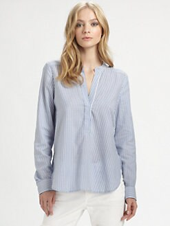 Vince - Pinstriped Blouse