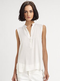 Vince - Sleeveless Silk Top