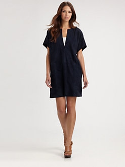 Vince - Suede Tunic Dress