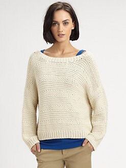 Vince - Crocheted Boatneck Sweater