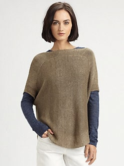 Vince - Linen Boatneck Pullover