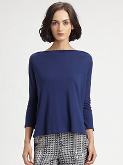 Vince - Cotton Boatneck Top