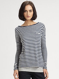 Vince - Striped Pocket Tee