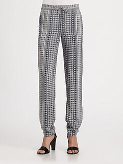 Vince - Printed Silk Track Pants