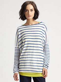 Vince - Linen Mixed-Stripe Sweater