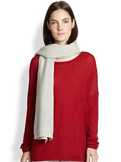 Vince - Wool & Cashmere Waffle-Knit Scarf