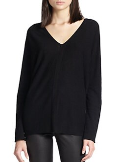Vince - Cashmere Ladder-Stitched Sweater