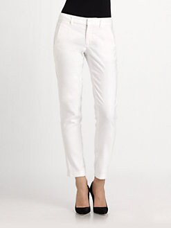 Vince - Linen-Blend Ankle Pants