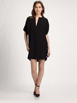 Vince - Draped Silk Dress