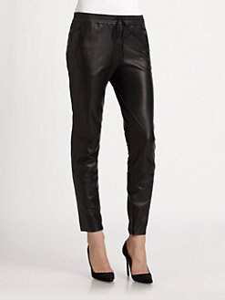 Vince - Leather Jog Pants