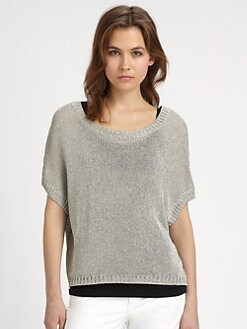 Vince - Metallic Cropped Sweater
