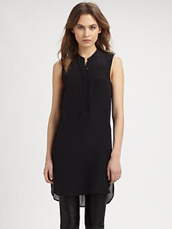 Vince - Sheer-Back Silk Tunic
