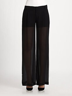 Vince - Wide-Leg Sheer Silk Pants