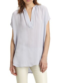 Vince - Draped Silk Top