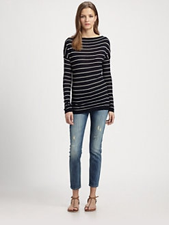 Vince - Striped Boatneck Tee