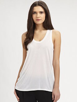 Vince - Silk Panel Tank Top