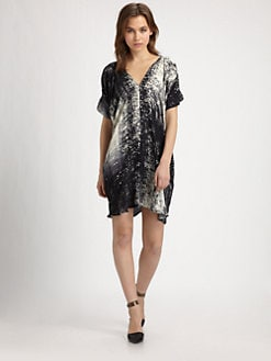 Vince - Silk Print Dress
