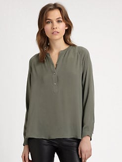 Vince - Silk Pullover Blouse