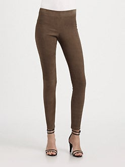 Vince - Stretch Suede Leggings