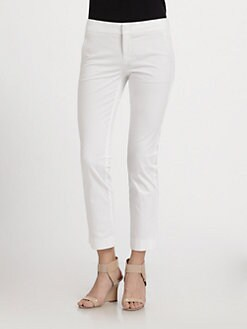 Vince - Stretch Cotton Cropped Flare Pants