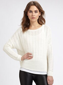 Vince - Open-Stitch Linen Sweater