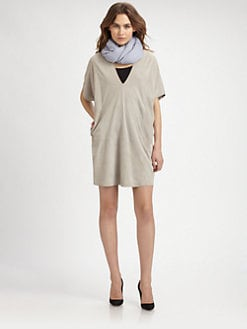 Vince - Suede V-Neck Dress