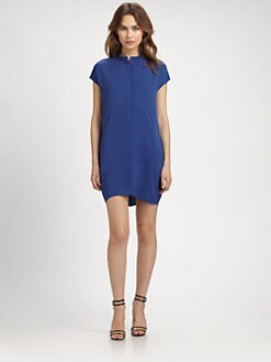 Vince - Silk Half-Placket Dress