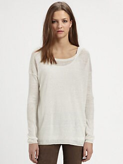 Vince - Sheer Linen Sweater