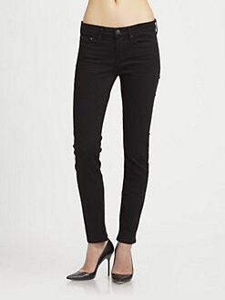 Vince - Striped Skinny Ankle Jeans
