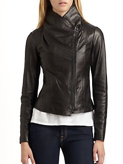 Vince - Scuba Leather Jacket
