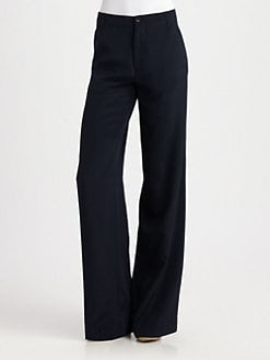 Vince - Wide-Leg Silk Pants