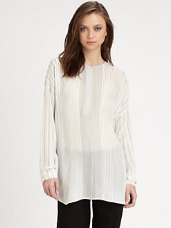 Vince - Striped Silk Tunic