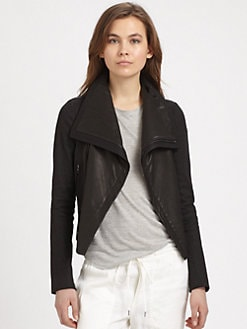 Vince - Leather Panel Jacket