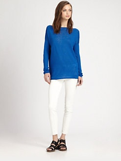 Vince - Boatneck Linen Sweater