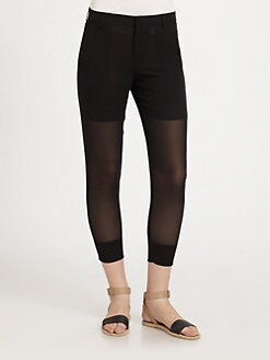 Vince - Silk Sheer Panel Pants