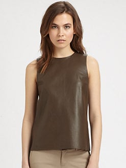 Vince - Perforated Leather Top