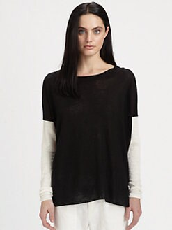 Vince - Colorblock Cotton Sweater