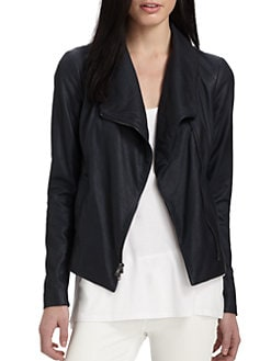 Vince - Matte Leather Scuba Jacket