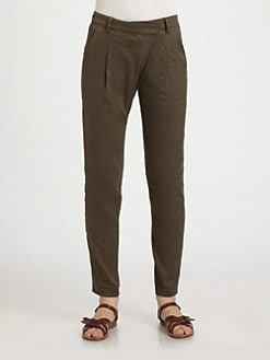 Vince - Asymmetric Stretch Linen Pants