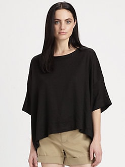 Vince - Boxy Stretch Linen T-Shirt