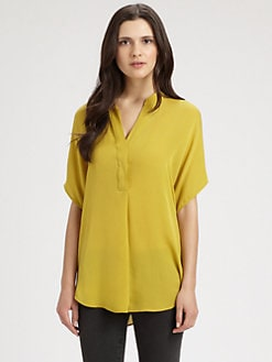 Vince - Silk Georgette Dolman Sleeves Blouse