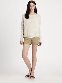 Vince - Boxy Cotton/Linen Sweater