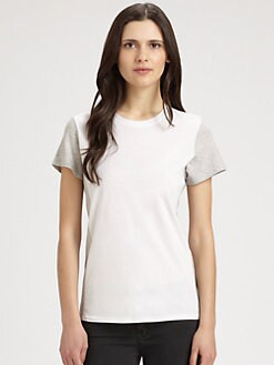 Vince - Colorblock Cotton T-Shirt