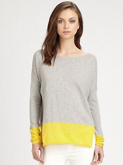 Vince - Cotton Colorblock Sweater