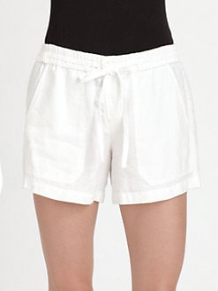 Vince - Drawstring Linen Shorts