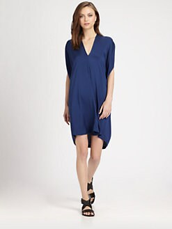 Vince - Silk Georgette Draped Dress